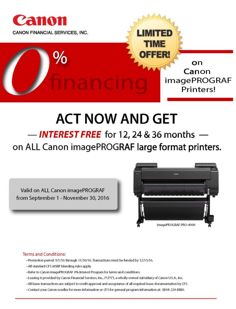 Canon Large Format Printers in Syracuse, NY from Plan and Print