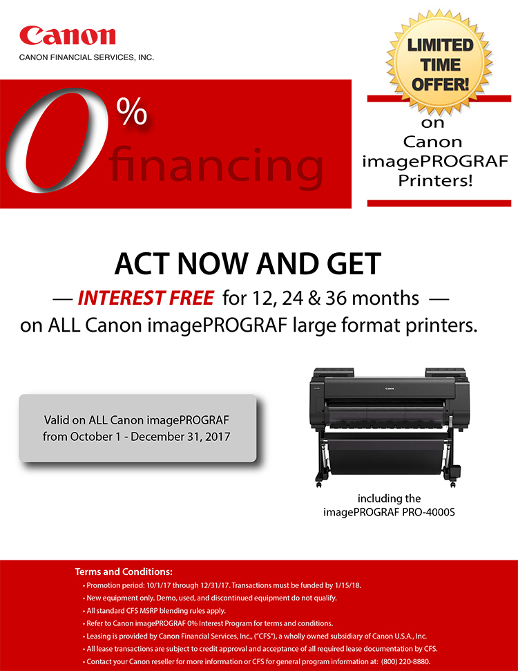 canon imagePROGRAF large format printers from plan and print near syracuse ny