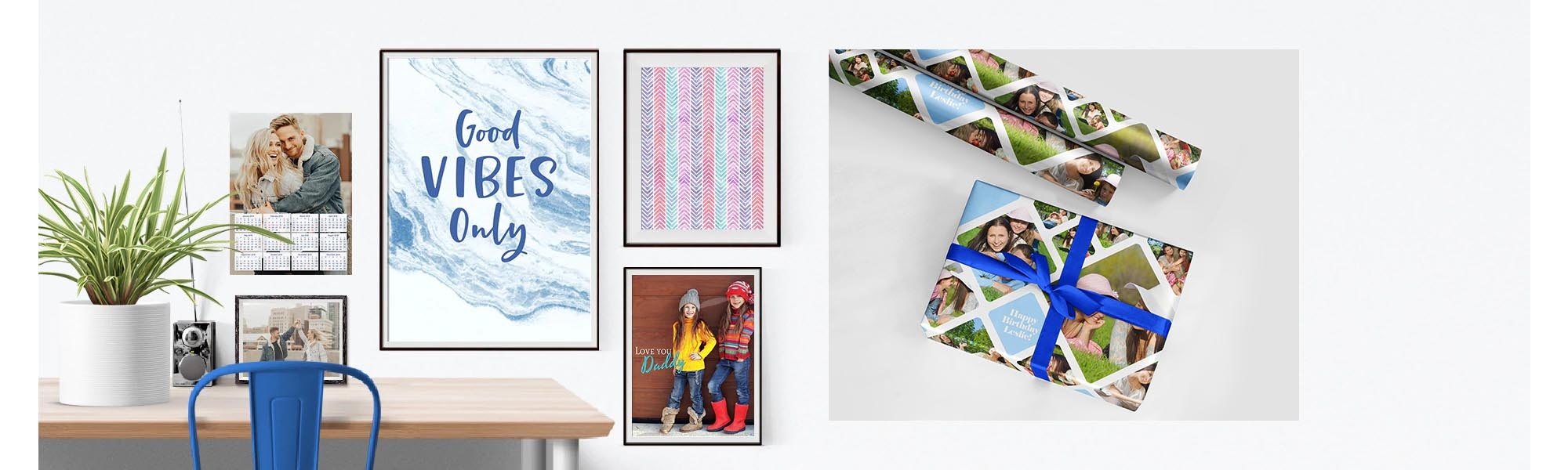 Poster and Gift Wrapping Online Design & Print Tool