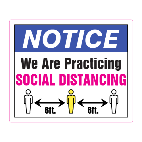 Emergency Signage Solutions from Plan and Print Social Distancing Sign Syracuse NY