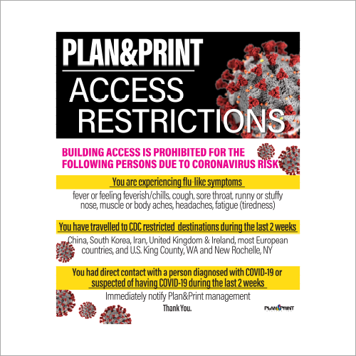 Emergency Signage Solutions from Plan and Print Acces Restriction Sign Syracuse NY